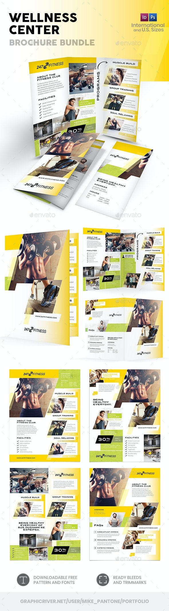 Wellness Center Print Bundle 3 - Informational Brochures