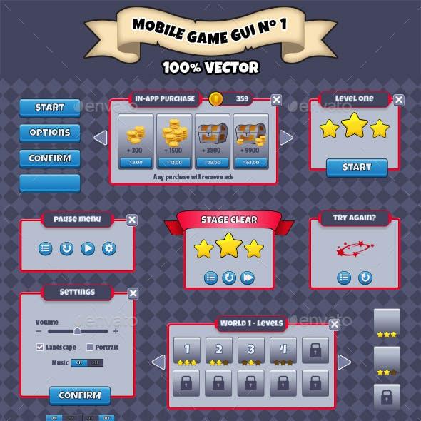 Mobile Game GUI Pack Nº 01