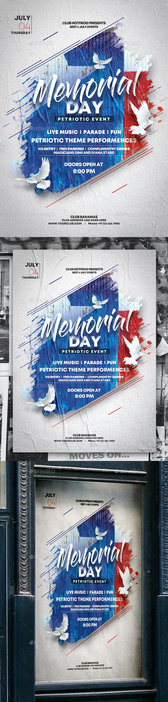 Memorial Day Poster - Events Flyers