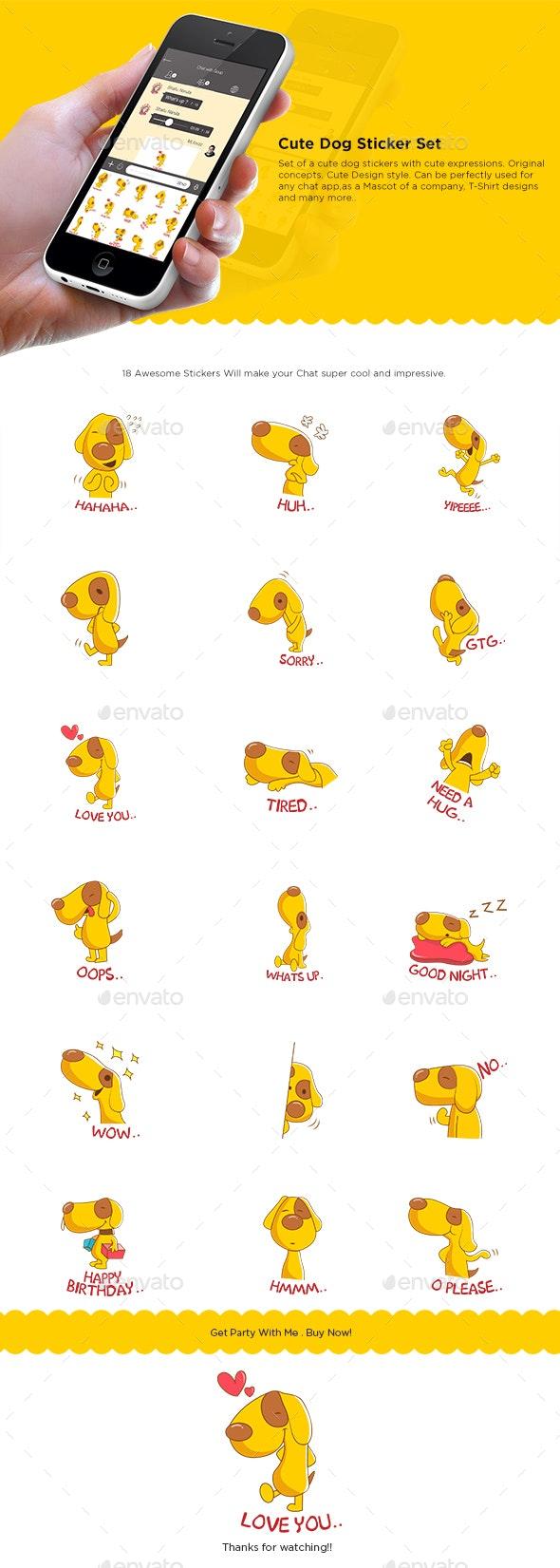 Dog Sticker Set - Animals Characters
