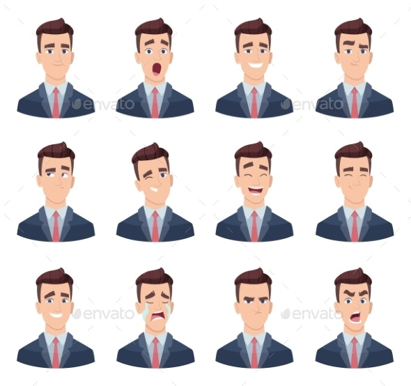 Businessman Emotions - People Characters