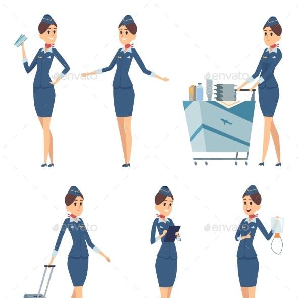 Stewardess Woman Hostess Professional