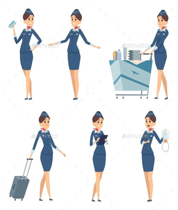 Stewardess Woman Hostess Professional - People Characters