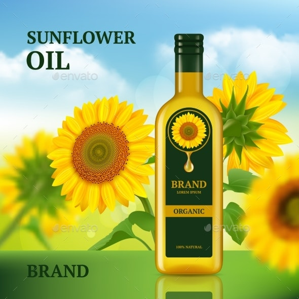 Sunflower Oil - Food Objects