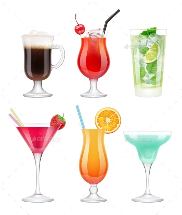 Alcoholic Cocktails - Food Objects