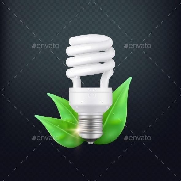 Realistic Energy Saving Lamp Vector Concept - Miscellaneous Vectors