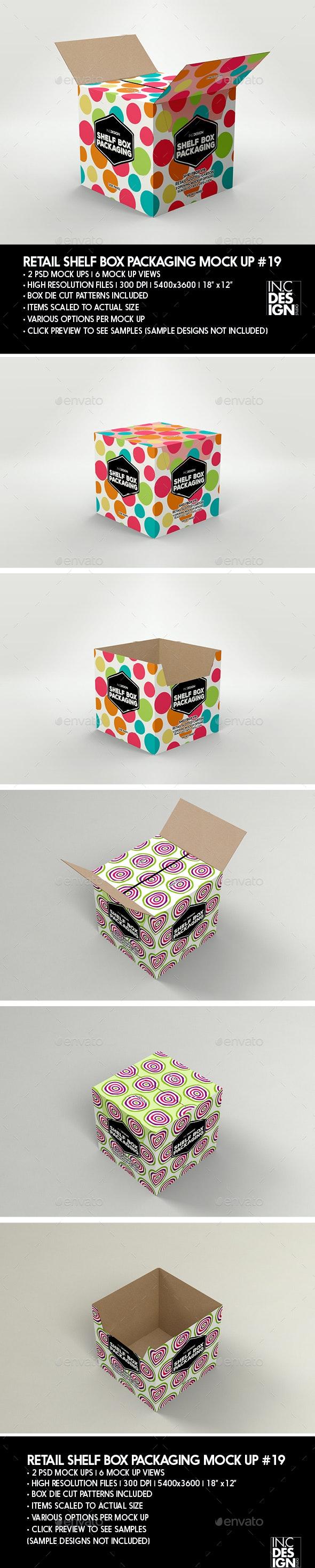 Retail Shelf Box Packaging MockUp No.19 - Packaging Product Mock-Ups