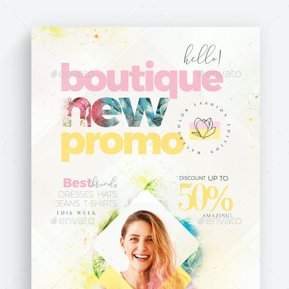 Boutique New Promo Flyer Template