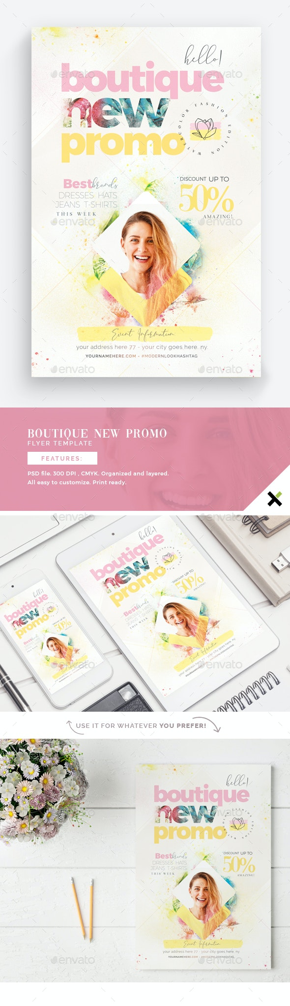 Boutique New Promo Flyer Template - Events Flyers