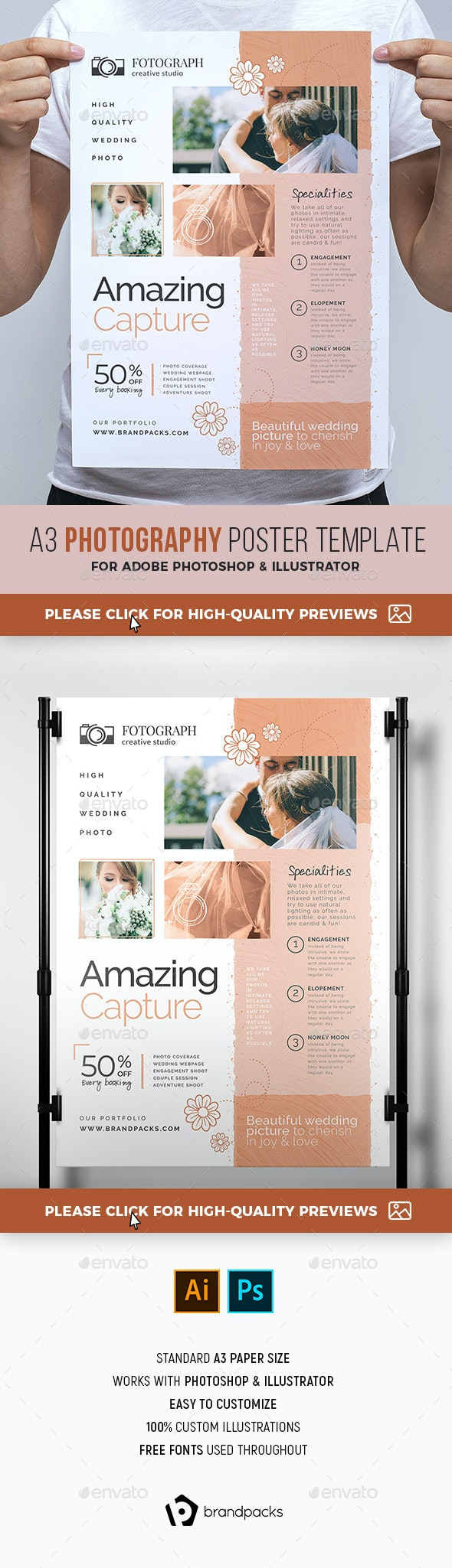 Photography Service Poster/Banner - Commerce Flyers