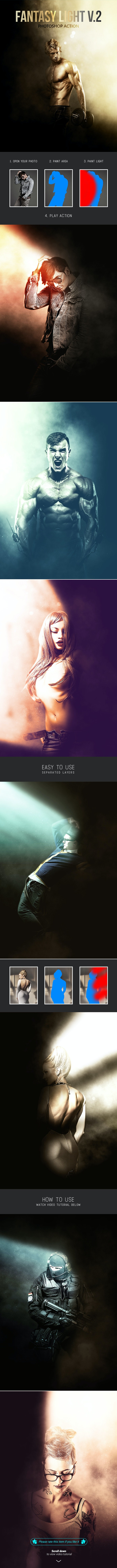 Fantasy Light v.2 - Photoshop Action - Photo Effects Actions