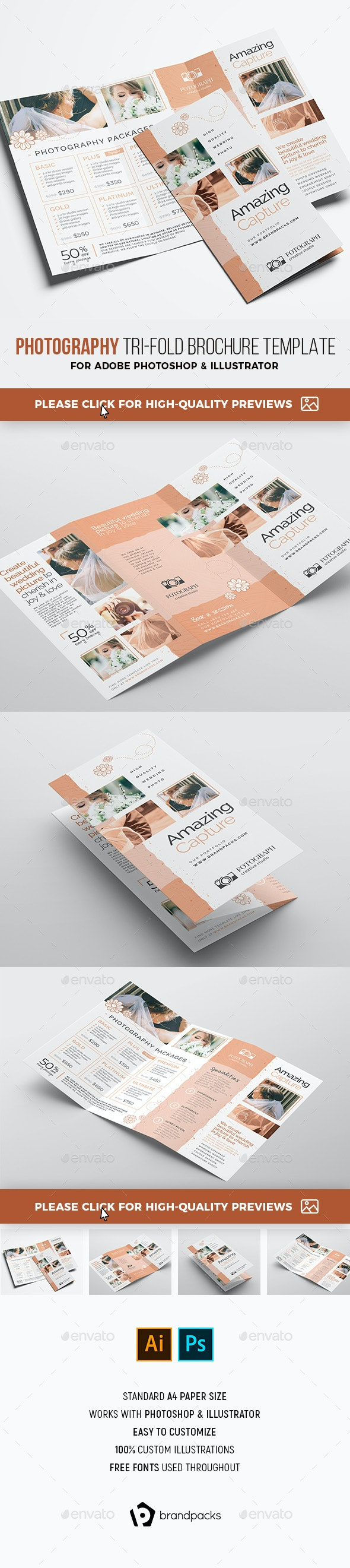 Photography Service Tri-Fold Brochure - Corporate Brochures