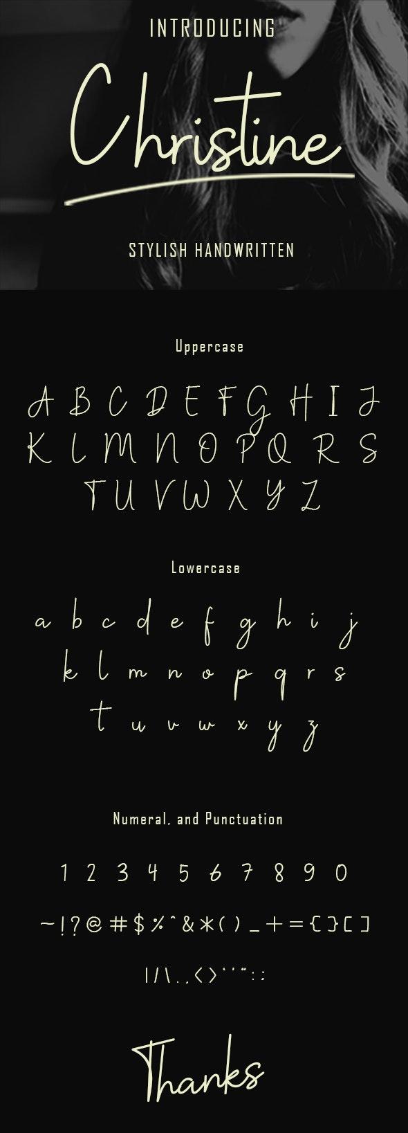 Christine Stylish Handwritten - Hand-writing Script