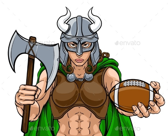Viking Female Gladiator Football Warrior Woman - People Characters