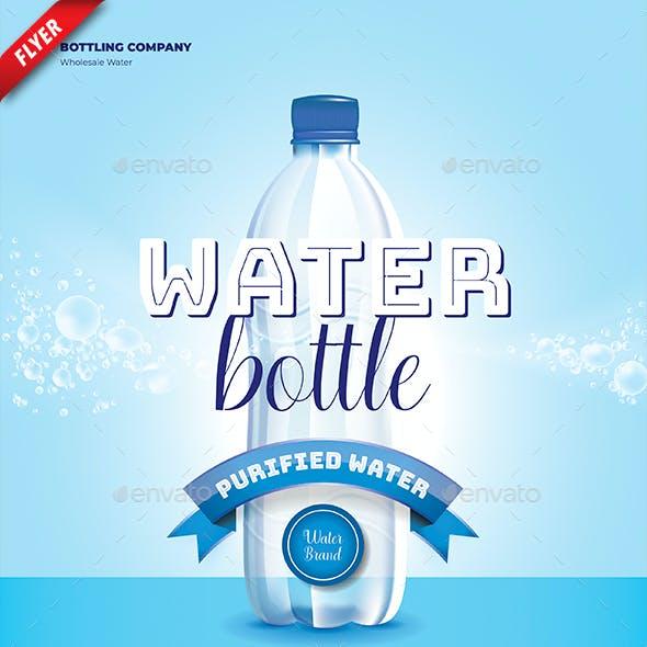 Water Bottle Business Flyer