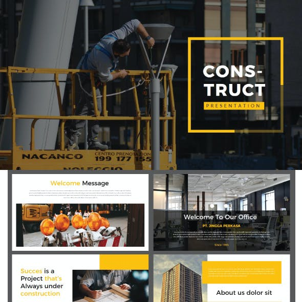 Construction Presentation Templates From GraphicRiver