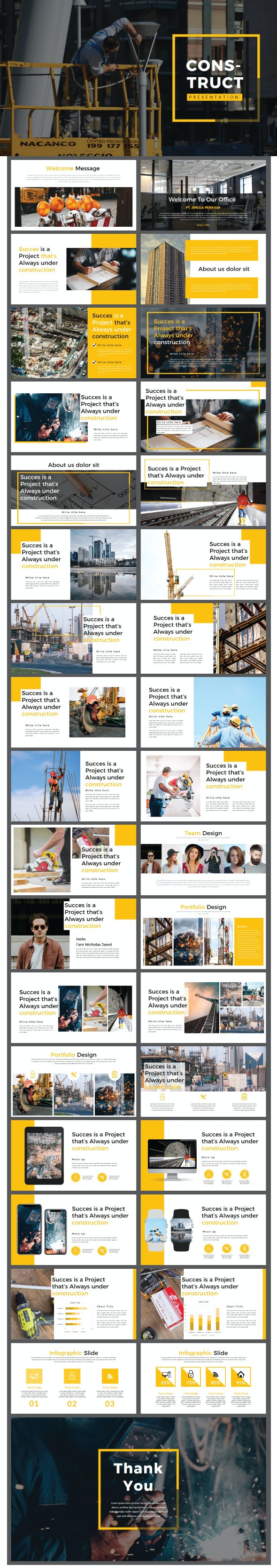 Construct Keynote Template - Business Keynote Templates