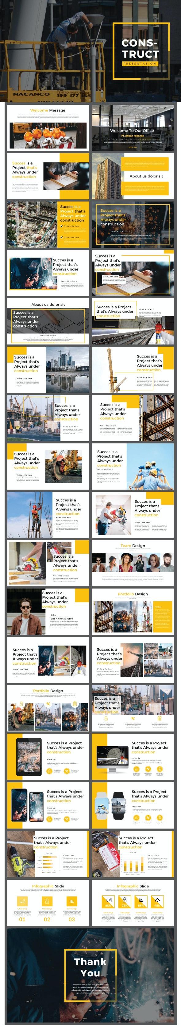 Construct Google Slides Template - Google Slides Presentation Templates