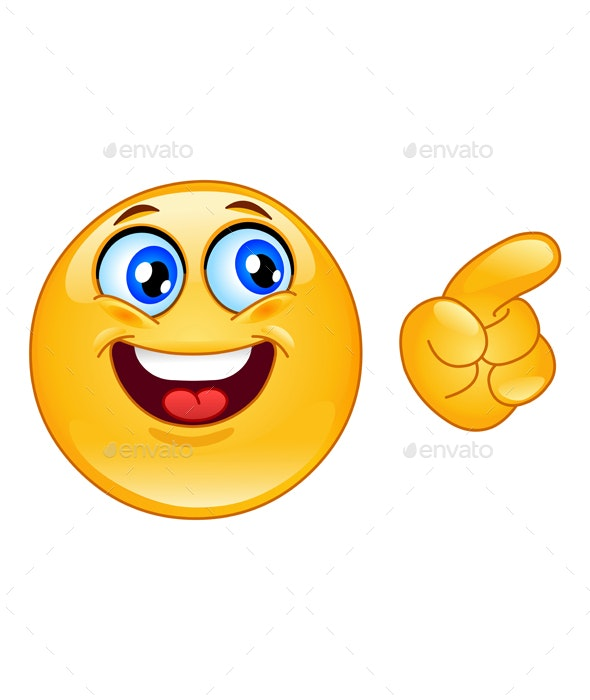 Pointing Emoticon - People Characters