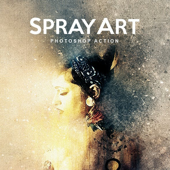 SprayArt - Photoshop Action