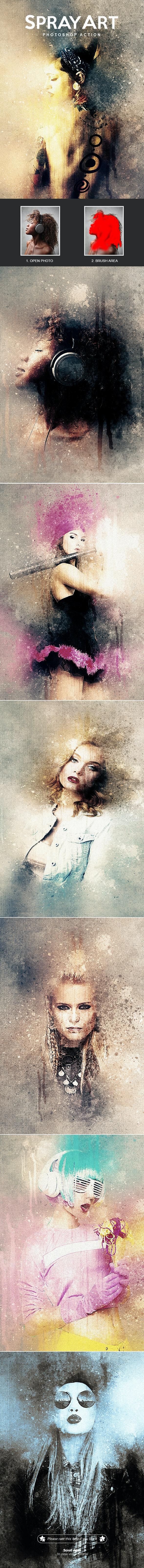 SprayArt - Photoshop Action - Photo Effects Actions