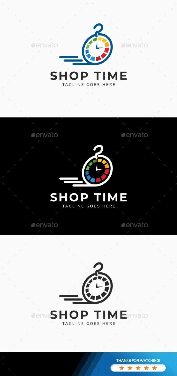 Shop Time Logo - Symbols Logo Templates