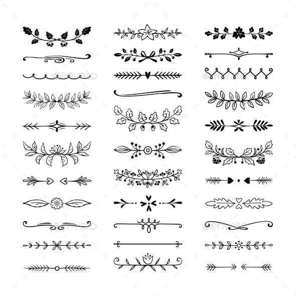 Doodle Dividers - Borders Decorative