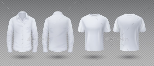 Realistic T-Shirt and Shirt - People Characters
