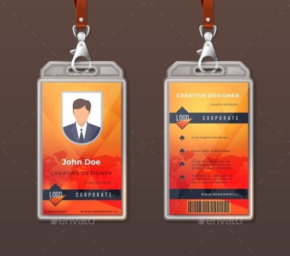 ID Card Corporate Identity Employee Access Badge - Concepts Business