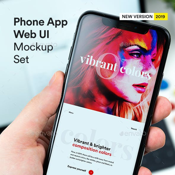 Phone X App Mock-Up UI Set