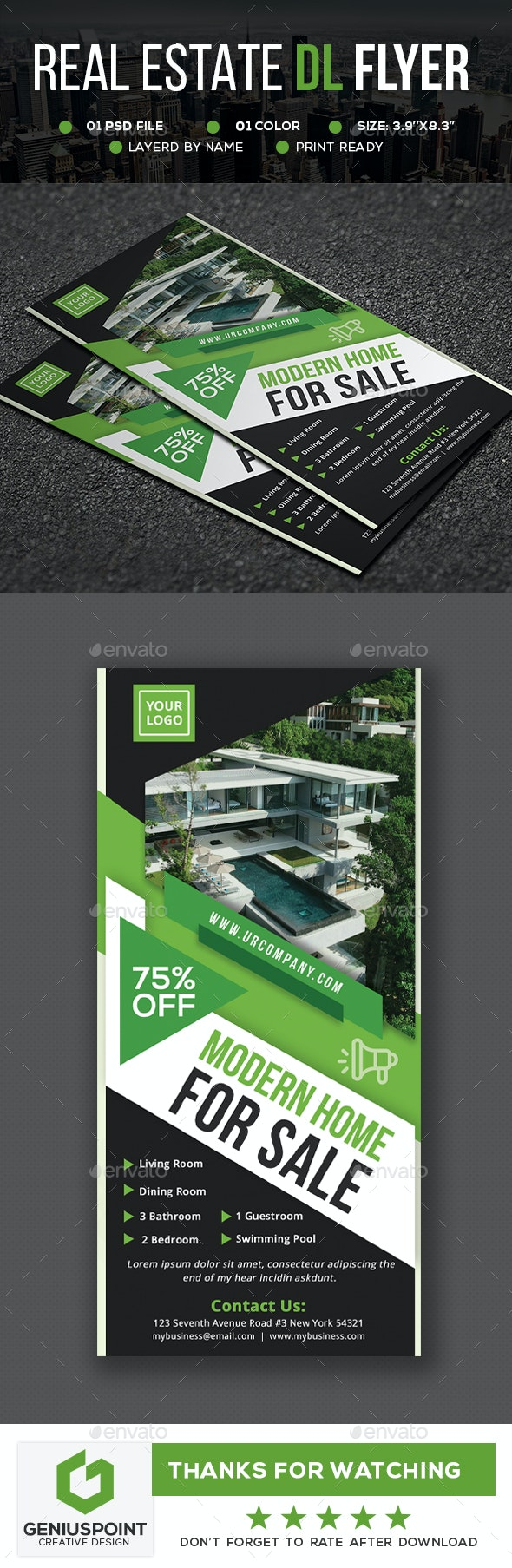 Real Estate DL Flyer - Flyers Print Templates