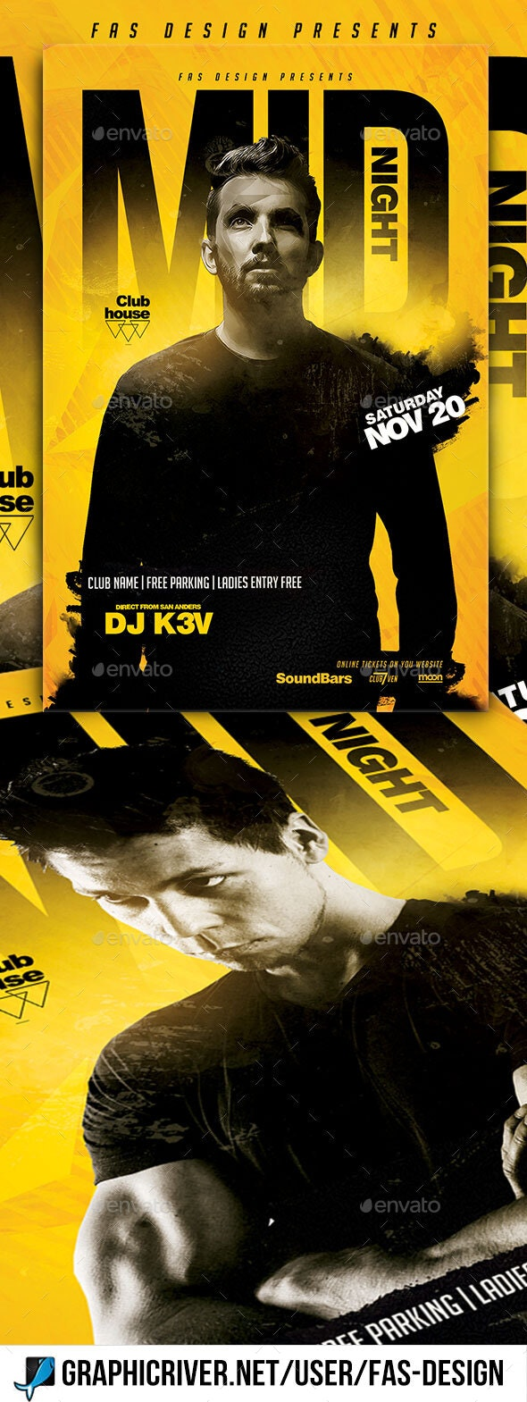 Mid Night Flyer Template - Clubs & Parties Events