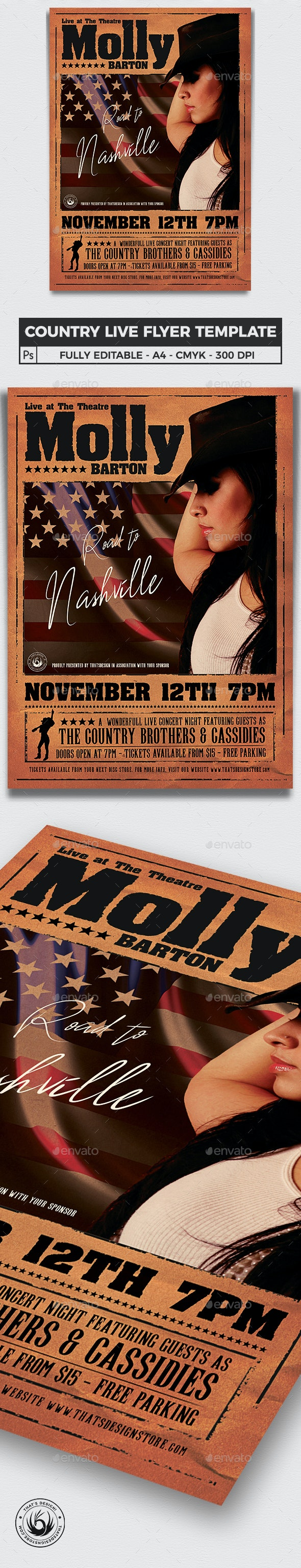 Country Live Flyer Template V2 - Concerts Events