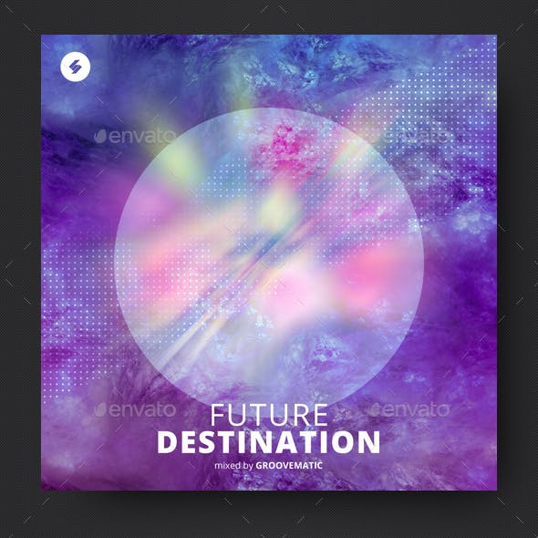 Future Destination - Electronic Music Album Cover Artwork Template