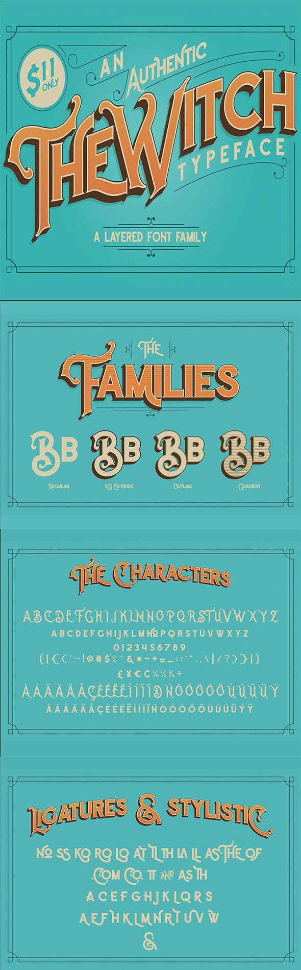 The Witch - Serif Fonts