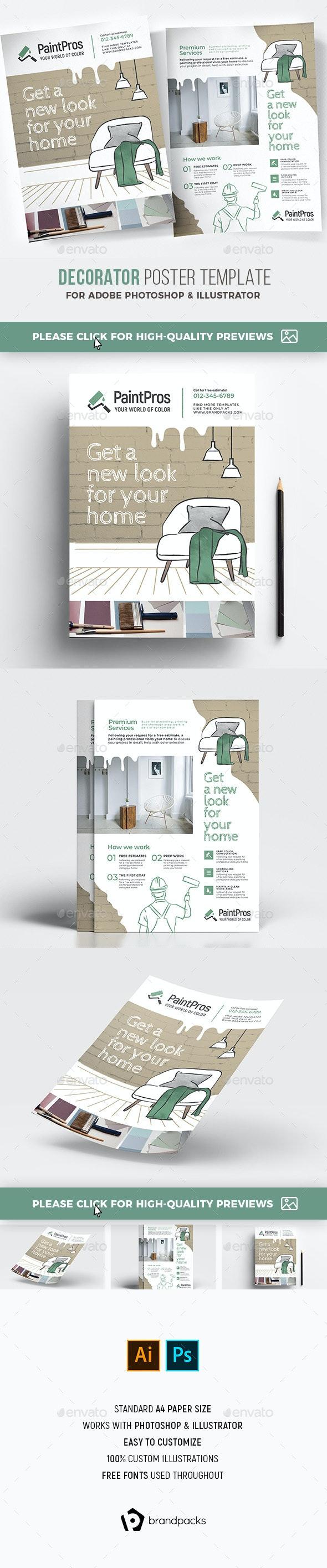 Decorator Poster/Flyer - Commerce Flyers