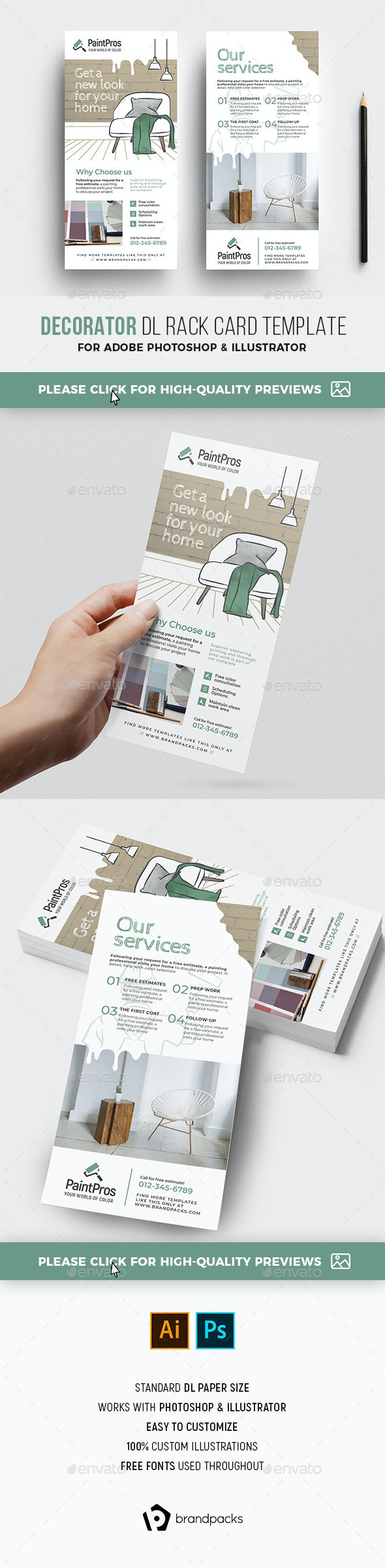 Decorator DL Rack Card - Commerce Flyers