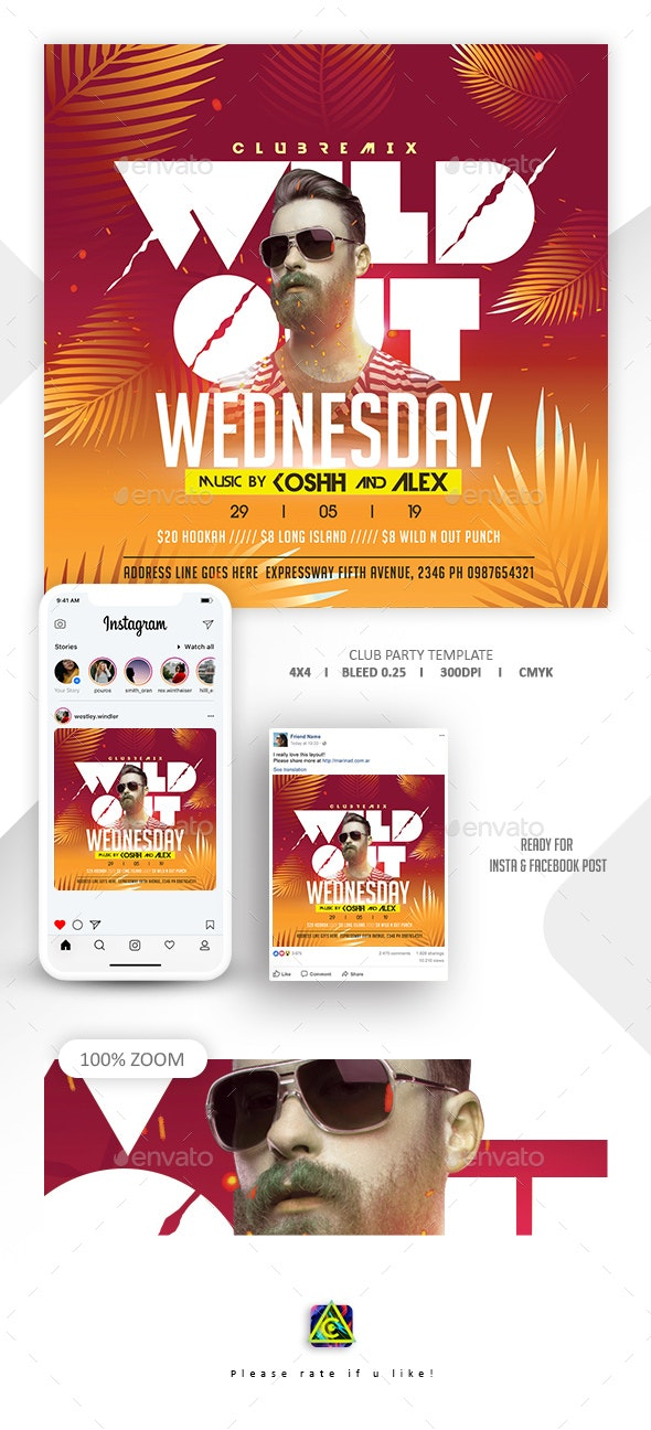 Dj Tour Flyer Template - Clubs & Parties Events
