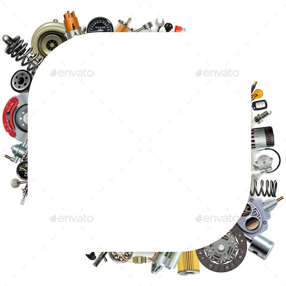 Vector Car Parts Corner Frame - Industries Business
