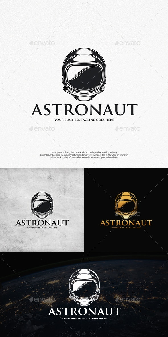 Astronaut Helmet Logo Template - Objects Logo Templates