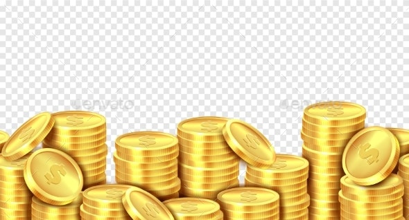 Gold Coins Stack - Concepts Business