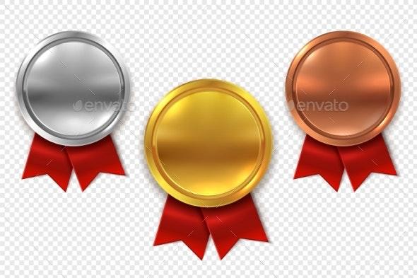 Empty Medals - Miscellaneous Vectors