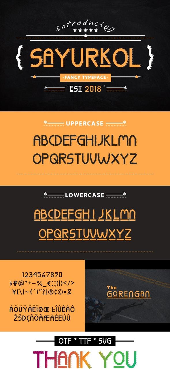 SaYURkOL - Fonts