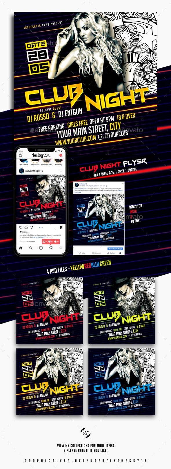 Club Night Flyer - Clubs & Parties Events
