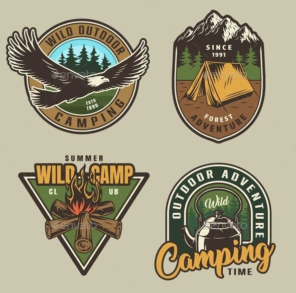Adventure Labels - Animals Characters
