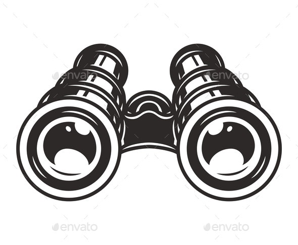 Binoculars Template - Miscellaneous Vectors