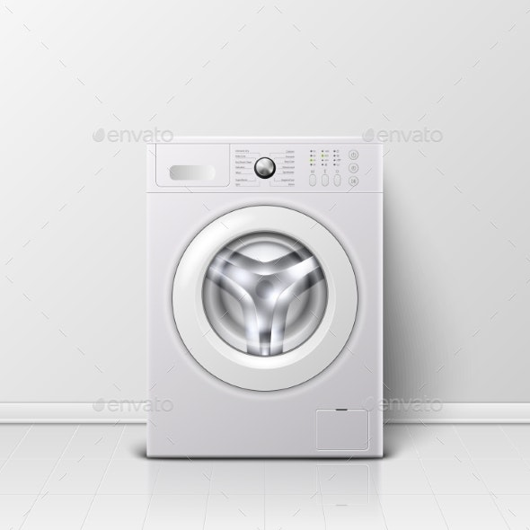 Vector Background with 3D Realistic Modern White - Man-made Objects Objects