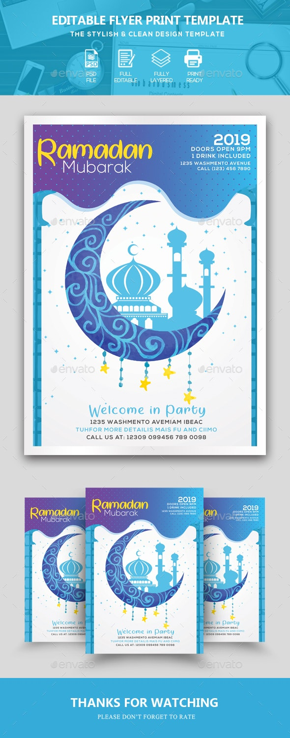 Ramadan Mubarak Flyer/Poster - Events Flyers