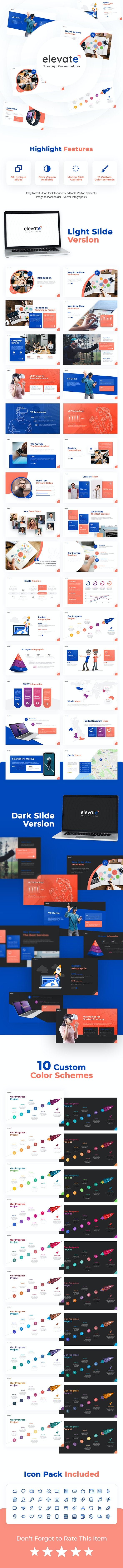 Elevate - Creative Startup PowerPoint Template - PowerPoint Templates Presentation Templates