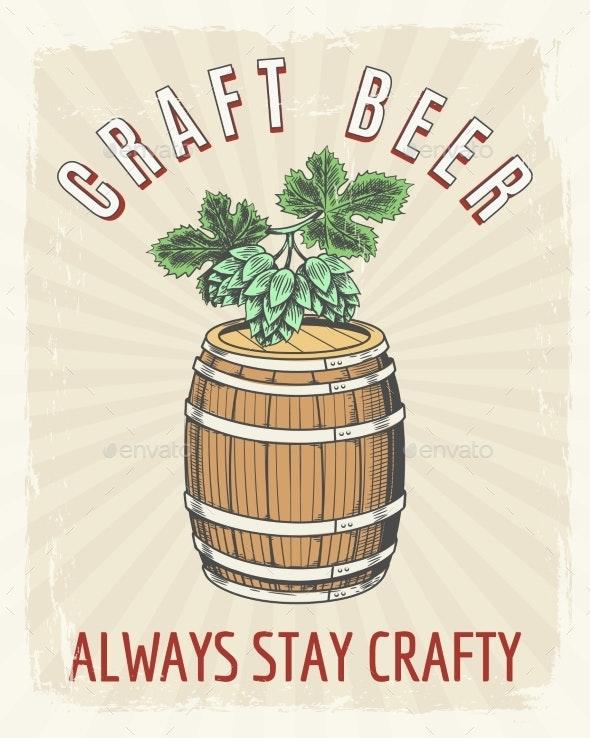 Craft Beer Vintage Poster - Miscellaneous Vectors